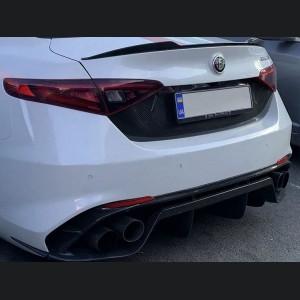Alfa Romeo Giulia Central Back Trim License Plate - Carbon Fiber