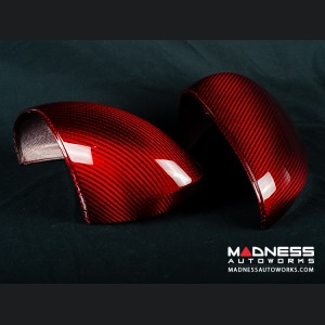 Alfa Romeo Giulia Mirror Covers - Carbon Fiber - Red
