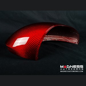 Alfa Romeo Giulia Mirror Covers - Carbon Fiber - Red