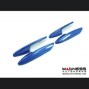Alfa Romeo Giulia Interior Door Handle Set - Carbon Fiber - Blue