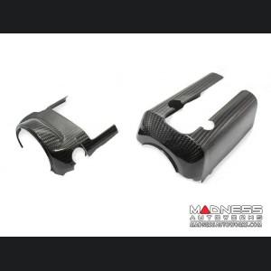 Alfa Romeo Giulia Steering Wheel Shroud - Carbon Fiber - Quadrifoglio Model - Left Hand Drive
