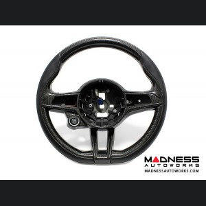 Alfa Romeo Giulia Steering Wheel Trim - QV Model - 2 piece lower trim - Carbon Fiber - QV Logo