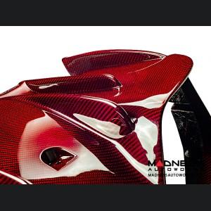 Alfa Romeo Giulia Rear Diffuser - Quadrifoglio - Carbon Fiber - Red
