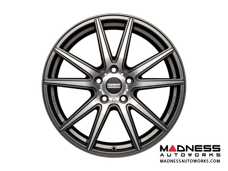 Range Rover Evoque Custom Wheels by Fondmetal - Matte Titanium Machined