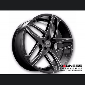 Custom Bavaria Wheels by Lexani - Competition Series - Glossy Black with Machined Accents