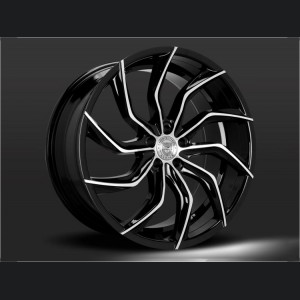 Custom Matisse Wheels by Lexani - Concave Series - Glossy Black with Machined Accents