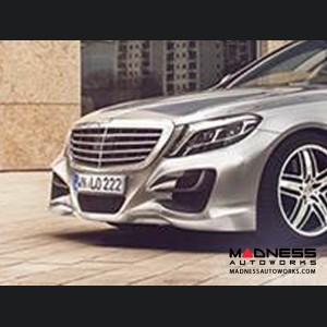 Mercedes Benz S-Class (W222) Front Bumper Carbon Fiber Flaps by Lorinser