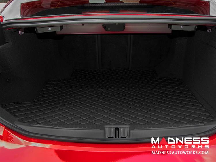 Alfa Romeo Giulia Cargo Mat - with Premium Sound - Black w/ Black Stitching