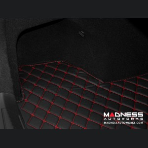 Alfa Romeo Giulia Cargo Mat - with Premium Sound - Black w/ Red Stitching