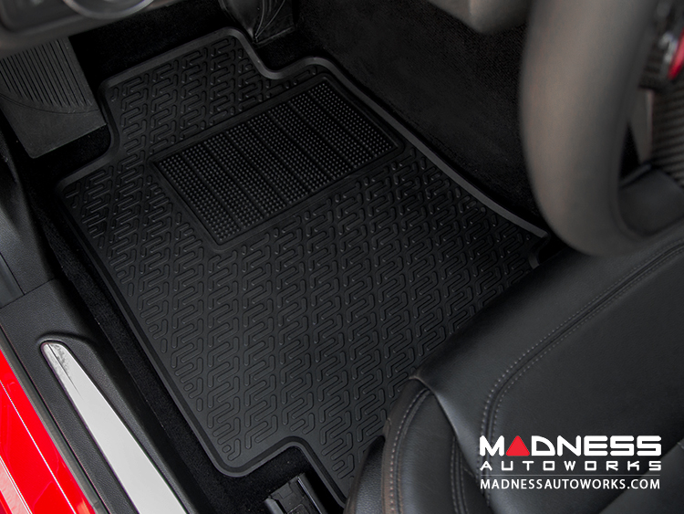 Data Center Floor Mats : Alfa romeo giulia floor mat set all weather rubber front