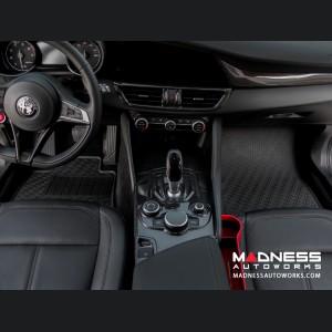 Alfa Romeo Giulia Floor Mat Set - All Weather Rubber Front/ Rear 4 Piece Set - Deluxe - Q4/AWD Model