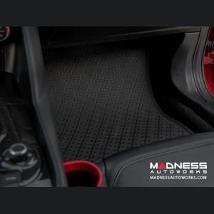 Alfa Romeo Giulia Floor Mat Set - All Weather Rubber Front 2 Piece Set - Deluxe - Q4/ AWD Model