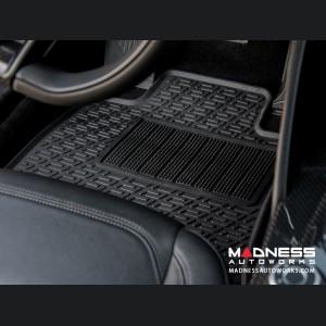 Alfa Romeo Giulia Floor Mat Set - All Weather Rubber Front 2 Piece Set - Deluxe - RWD Model