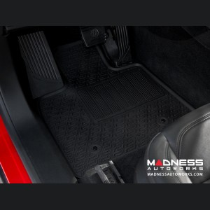 Alfa Romeo Stelvio Floor Mat Set - All Weather Rubber Front 2 Piece Set - Deluxe