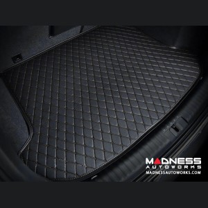 Alfa Romeo Stelvio Cargo Mat - w/ out Premium Sound - Black w/ Black Stitching
