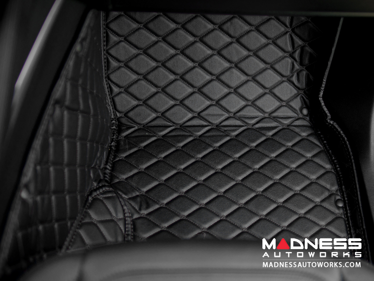 Audi A3 Floor Liner Set - Black w/ Black Stitching