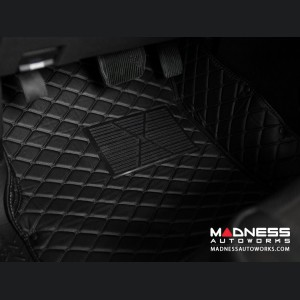 Volkswagen Golf 7 Liner Set - Black w/ Black Stitching (2012 - 2014)