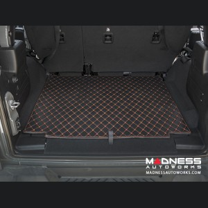 Jeep Wrangler JL Cargo Mat - Black w/ Orange Stitching