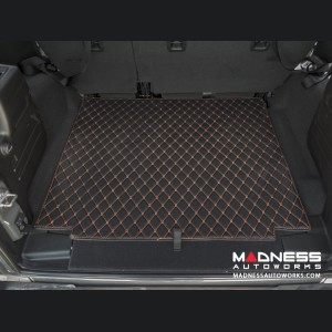 Jeep Wrangler JL Cargo Mat - Black w/ Orange Stitching