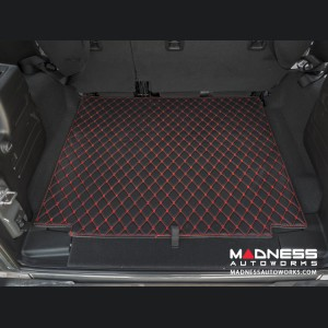 Jeep Wrangler JL Cargo Mat - Black w/ Red Stitching