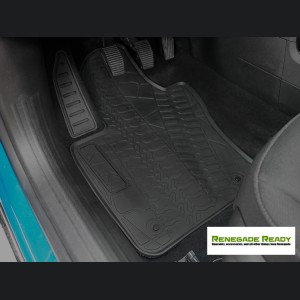 Jeep Renegade Floor Mats - All Weather Rubber - Deluxe Version