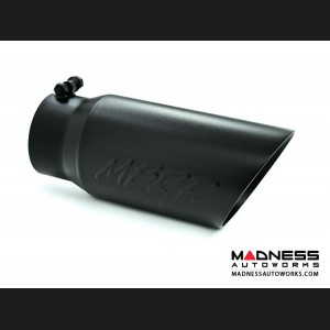 """Universal Tip by MBRP Exhaust Systems - 7"""" O.D. Rolled End - Black"""