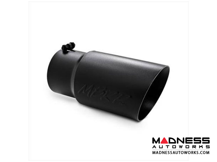 "Ford Truck Exhaust Tip by MBRP Exhaust Systems - Angled Cut  Dual Walled - 6"" O.D. - Black Coated"
