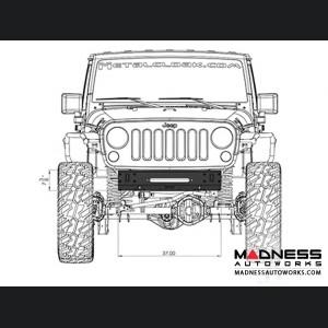 Jeep Wrangler JK Frame Built Bumper - Front