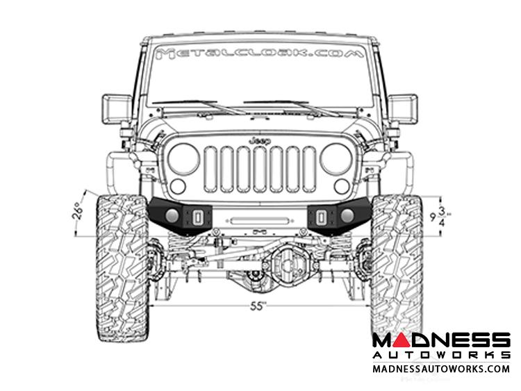 jeep - jeep wrangler jk frame built bumper