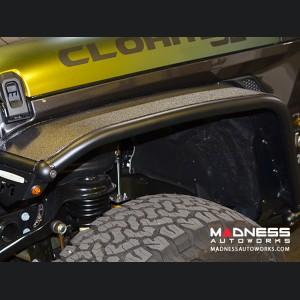 Jeep Wrangler JL Overland Tube Fenders by Metalcloak - Front - Raw Metal
