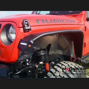 Jeep Wrangler JL Overland Tube Fenders by Metalcloak - Front - Raw Metal