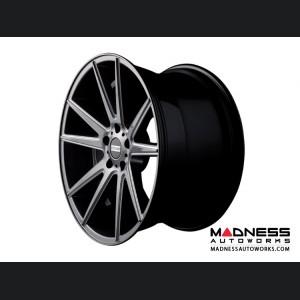 Maserati GranTurismo Custom Wheels by Fondmetal - Gloss Titanium Milled