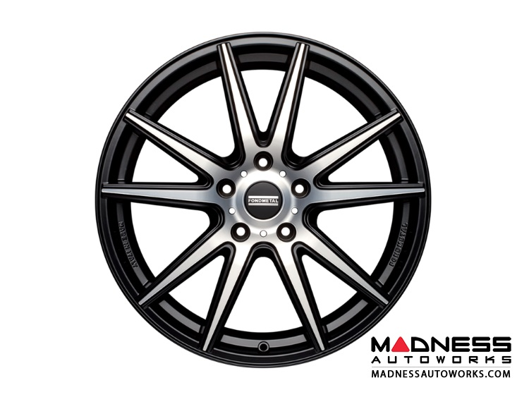 Maserati Ghibli Custom Wheels by Fondmetal - Matte Black Machined