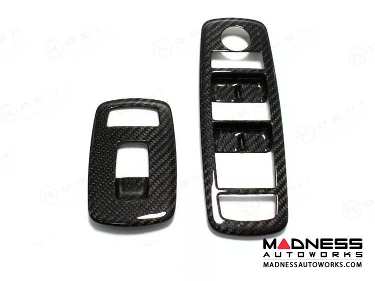 Maserati Ghibli Window Switch Control Button Frame Kit - Carbon Fiber