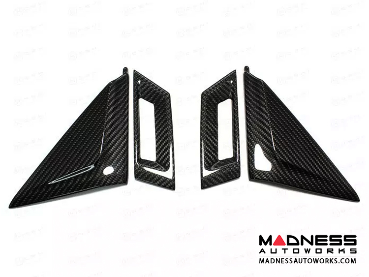 Maserati Ghibli Interior Door Triangle Trim Kit - Carbon Fiber