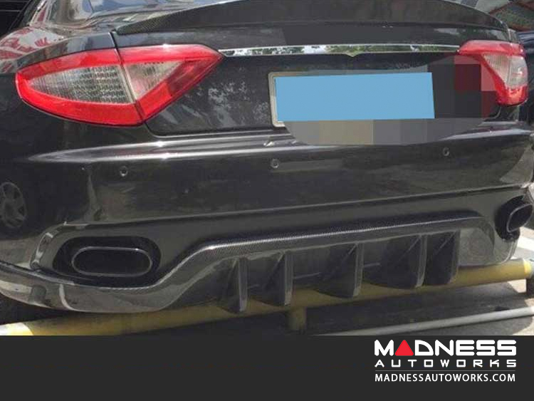 Maserati GranTurismo Convertible Rear Bumper Lip - Carbon Fiber - 2-Door