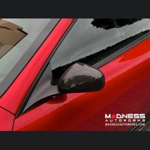 Maserati GranTurismo Cabrio Mirror Cover Kit - Carbon Fiber