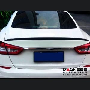 Maserati Quattroporte GT Sedan Rear Spoiler - Carbon Fiber