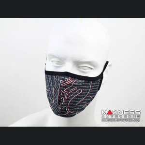 Face Mask - Triple Layer - Alfa Romeo Gray Carbon Fiber