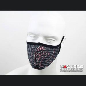 Face Mask - Triple Layer - Alfa Romeo Gray Carbon Fiber
