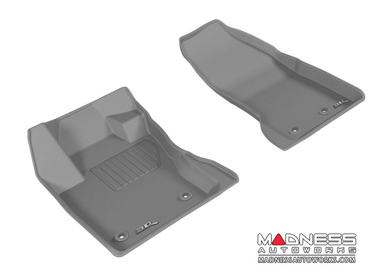 Jeep Renegade Floor Mats - 3D MAXpider - Front - Gray (Set of 2)