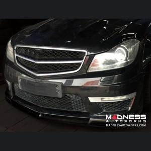 Mercedes-Benz W204 C63 AMG Front Bumper Lip - Carbon Fiber