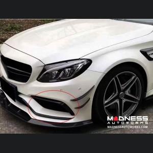 Mercedes-Benz W205 Front Fog Lamp Trims - Carbon Fiber