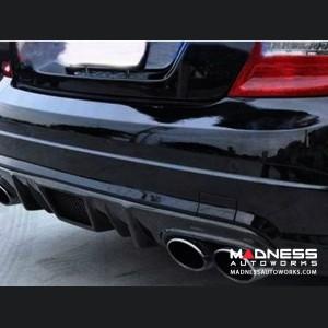 Mercedes-Benz W204 C63 AMG Rear Lip Diffuser - Carbon Fiber