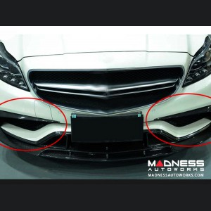 Mercedes-Benz CLS-Class W218 AMG Front Bumper Fins - Carbon Fiber