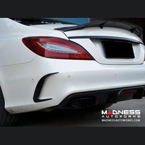 Mercedes-Benz CLS-Class W218 AMG Rear Bumper Fins - Carbon Fiber