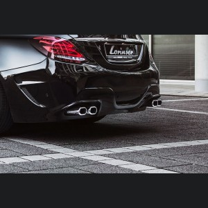 Mercedes-Benz C 180/C 200/C 250 AMG Sports Exhaust - Dual Tailpipe by Lorinser
