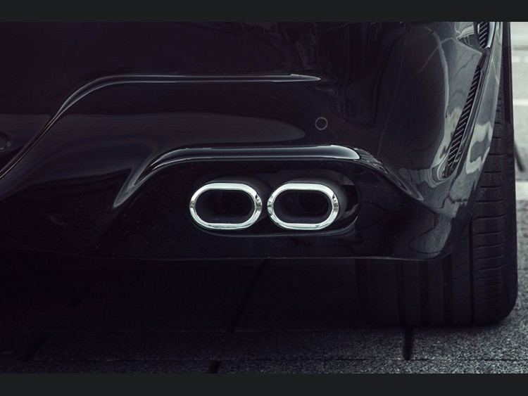 Mercedes-Benz C 180/C 200/C 250 Sports Exhaust - Dual Tailpipe by Lorinser