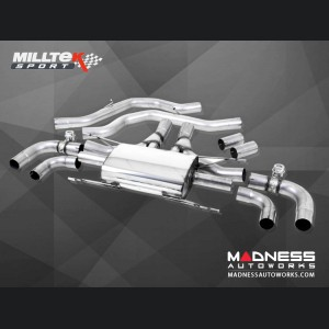 Alfa Romeo Giulia Performance Exhaust -2.9L QV - Milltek - Mid Back Design