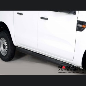 Ford Ranger Grand Pedana Side Steps - Black Powdercoat - 76mm